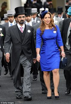 Princess Haya Bint Al Hussein and Sheikh Mohammed bin Rashid Al Maktoum attend day two of Royal Ascot at Ascot Racecourse on June 2012 in Ascot, England. Princess Haya, Prince And Princess, World Handsome Man, The Half Sisters, Royal Family Pictures, Arab Wedding, Queen Rania, Handsome Prince, Royal Ascot