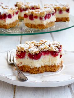 Bake & Taste: Crisp pastry with raspberries and foam pudding Pudding Desserts, Cookie Desserts, Fun Desserts, Cookie Recipes, Dessert Recipes, Polish Desserts, Polish Recipes, Pumpkin Cheesecake, Sweet Cakes