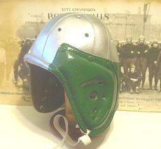 Old  Philly Eagles style leather football helmet