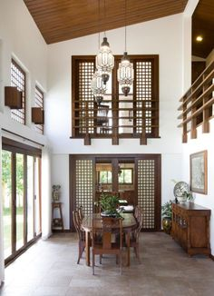 45 Modern Filipino Interior Design - Home Decorations Trend 2019 Style Tropical, Tropical House Design, Tropical Interior, Tropical Homes, Modern Tropical House, Kerala House Design, Tropical Decor, Modern Filipino Interior, Modern Filipino House