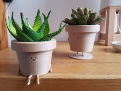 The Cute Printed Plant Pot Character with Two Optional Postures - Cactus DIY Cactus Plante, Pot Plante, Indoor Planters, Ceramic Planters, Indoor Cactus, Indoor Plant Pots, Fall Planters, Cactus Flower, Flower Pots