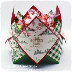 3d Christmas, Christmas Items, Christmas Cards, Christmas Decorations, Xmas, Fries, 3d Projects, Stamping Up, Gift Wrapping