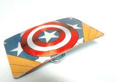 Comic Book Belt Buckle Captain America. $20.00, via Etsy.