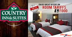 Enjoy best deals on room tariffs and food.