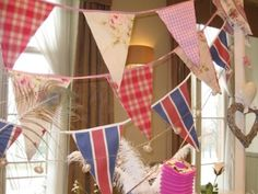 Bunting with hearts