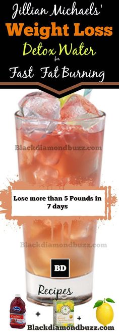 Jillian Michaels Weight Loss Detox Water for Fast Fat Burning