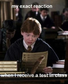 "Ron Weasley and I make the same face and everything! Then I think, ""Crap, I'm screwed."""
