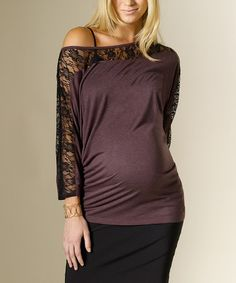 Take a look at this Opium Lace Maternity Top by Rosie Pope Maternity on #zulily today! $64.99