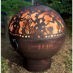 Good Directions Fire Bowl with Full Moon Party Fire Dome - Wood Burning Fire Pits - Fire Pits - Heating & Cooling