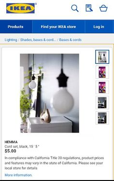 Cord set for hanging paper lanterns and DIY hanging style lamps!