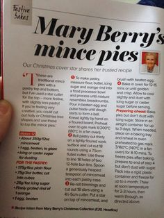 Mary Berry recipe! Fruit Mince Pies, Mary Berry Mince Pies, Mince Meat, Christmas Cooking, Christmas Mince Pies, Xmas Food, Mincemeat Pie, British Baking, Paul Hollywood Mince Pies