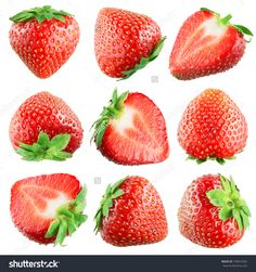 Strawberry. Fruits On White. Collection Stock Photo 159872582 : Shutterstock