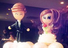 balloon wedding couples