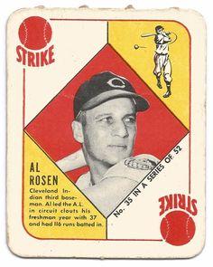 1951 Topps Red Backs Al Rosen #35 Baseball Card-G+ Shoe City Champions