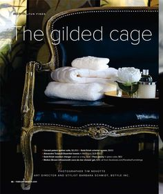 """""""The Gilded Cage"""". Spaces Magazine. Photographer Tim Nehotte. Art Direction & Styling by studiobstyle.com"""