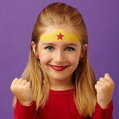 Step-by-Step Face Painting Ideas: Superhero (via Parents.com) #stepbystepfacepainting