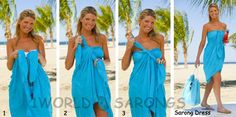 Strapless Dress Sarong