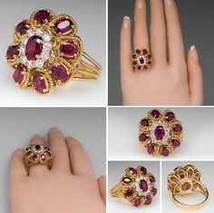 A ruby ring will surely be a stunning July birthstone gift or wedding anniversary present. The durability of ruby engagement rings make them a great option for everyday wear. Diamond Finger Ring, Gold Finger Rings, Gold Ring Designs, Gold Earrings Designs, Ruby Wedding Rings, Wedding Jewelry, Fashion Rings, Fashion Jewelry, Gold Rings Jewelry