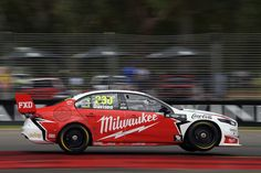 Will Davison drives the Milwaukee Racing Ford Falcon FGX during qualifying for Supercars Adelaide 500 on March 2018 in Adelaide, Australia. V8 Supercars, Ford Falcon, Milwaukee, Race Cars, Super Cars, March, Australia, Motor Sport, Auto Racing