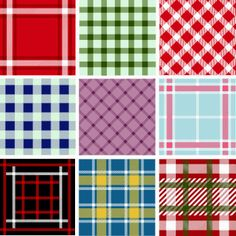 free vector Collection of Seamless Plaid Patterns