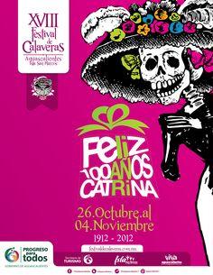 Cartel_Rosa, festival de las calaveras, Isla San Marcos, Aguascalientes, México