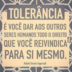 #tolerância