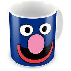 Caneca Porcelana Personalizada Vila Sésamo Grover Face - ArtePress | Brindes Personalizados, Canecas, Copos, Xícaras