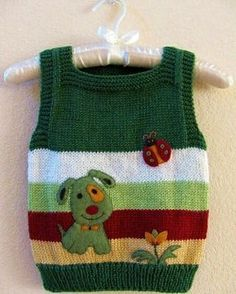 Articoli simili a Hand Knitted Vest with Handmade Felt Appliques su Etsy für kinder pullover Articoli simili a Hand Knitted Vest with Handmade Felt Appliques su Etsy for kids cardigans boys Baby Boy Knitting Patterns, Baby Sweater Knitting Pattern, Knitted Baby Cardigan, Knitted Baby Clothes, Knitting For Kids, Knitting Designs, Baby Patterns, Hand Knitting, Crochet Patterns