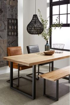50 Enchant Industrial Dining Room Design with California Style Ideas - Decorate Your Home Dining Room Design, Dining Room Furniture, Furniture Design, Wooden Furniture, Furniture Ideas, Furniture Buyers, Furniture Stores, Cheap Furniture, Home Interior