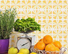 Geometric Square Flower Furniture Stencil by royaldesignstencils, $32.95
