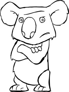 Awesome Disney The Wild Animal Koala Angry Staying Coloring Pages