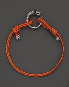 John Hardy Naga Sterling Silver Dragon Station Cord Bracelet, Orange | Bloomingdale's