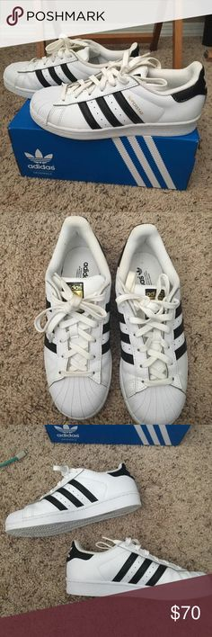 Adidas Superstars 6 1/2 Worn a couple of times adidas Shoes Sneakers