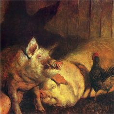 Night Pigs- Jamie Wyeth - WikiPaintings.org
