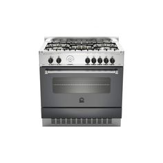 1500 bigprice la germania cucina americana 90x60cm 5 fuochi gas forno elettrico nero cod am9