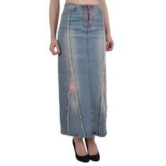 Amazon.com: Miss Posh Womens Ladies Long Denim Skirt - 8: Sports & Outdoors