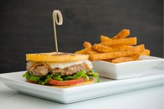 Stelvio. Queen West. Toronto, ON Toronto Life, Hamburger, Treats, Dishes, Ethnic Recipes, Queen, Food, Goodies, Plate