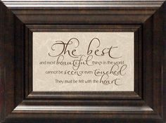 The Best and Most Beautiful Framed Textual Art