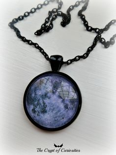 Purple full moon cameo necklace. by TheCryptOfCuriositie on Etsy, £9.50