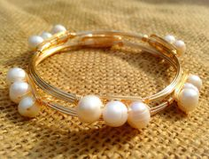 NEW-The Small Ollie Fresh Water Pearl Bangle