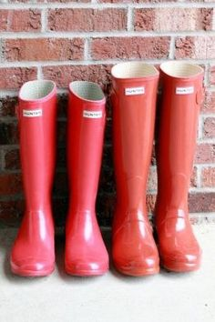 his & her Hunter boots