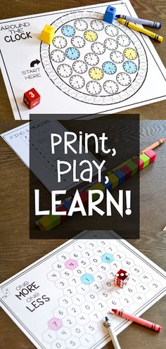 I like math games that are easy to prep and easy to play! These games are all black and white and only need dice, cubes, crayons, and a pencil to play! These print and play math games are perfect for first grade and cover every skill for the year!