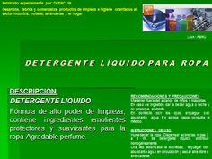 DETERGENTE LIQUIDO PARA ROPAS