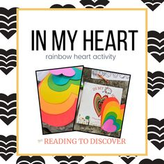In My Heart: Preschool Activities about Feelings is a group of activities to help preschoolers learn about the letter H as well as recognize their feelings. There are 8 activities plus a book list and a sample schedule. Become a Reading to Discover Member for Free and Download today. #readingtodiscover #preschoolactivity #preschoolactivities #inmyheart #preschoolactivitiesaboutfeelings #letterhactivities via @readingtodiscover