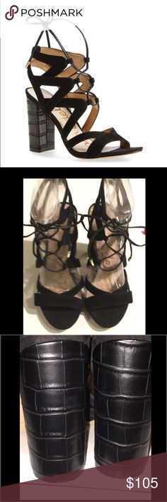 Sam Edelman Yardley Lace Up Sandals Gorgeous Sam Edelman Yardley Lace Up Sandals in Black Suede. Size 7. Excellent condition. Feel free to ask for more pictures! Sam Edelman Shoes Sandals