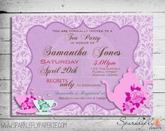 Tea Party Bridal Shower / Baby Shower / by SparkleflyPaperie
