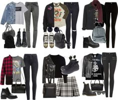 Grunge/ Hipster Outfits by fivesecondsofinspiration featuring a gray t shirt