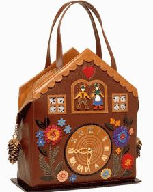 cuckoo clock handbag (that costs almost a grand!) I'd love to try and make something like this