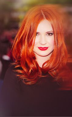red hair + red lips