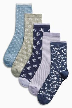 Buy Five Pack Heather Floral Socks online today at Next: Turkey